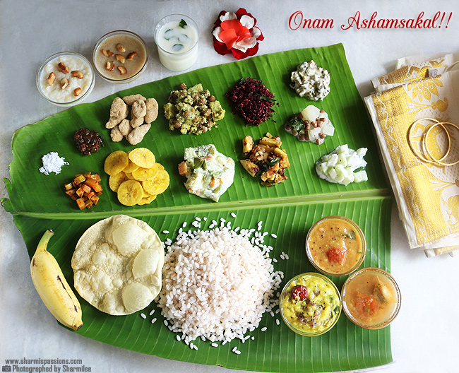 Onam Sadya - typické jedlo indického sviatku Onam