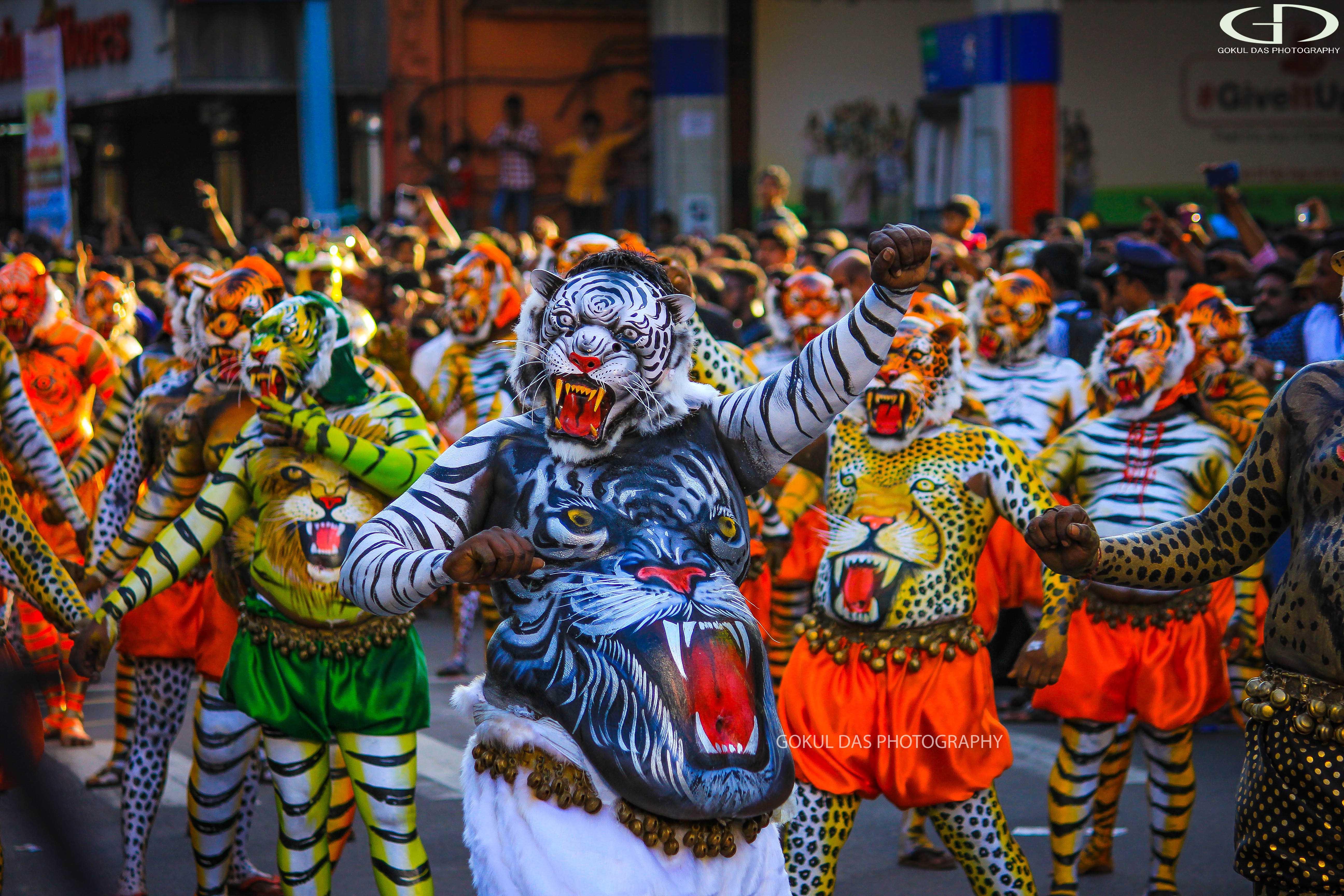Onam festival - hra tigrov